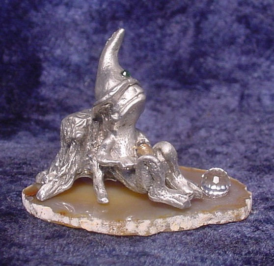 pewter wizard frog