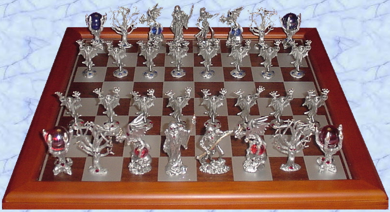 pewter reaper chess set