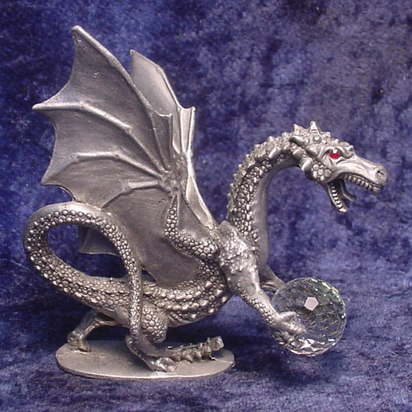 Pewter vintage and classic figurines - Pewter dragon statues ...