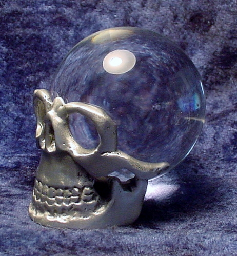 Pewter Skull Stand
